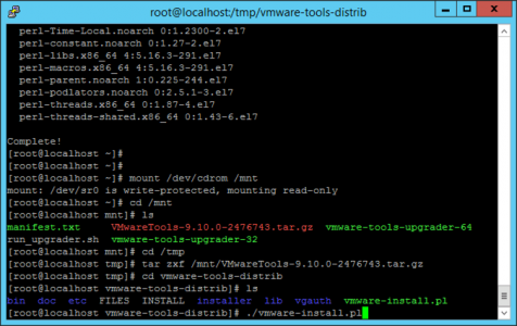 Linux Install ESX VMware Tools
