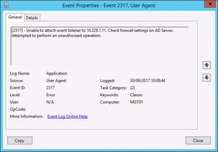 FirePOWER Event ID 2317