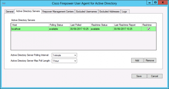 FirePOWER Agent on Domain Controller