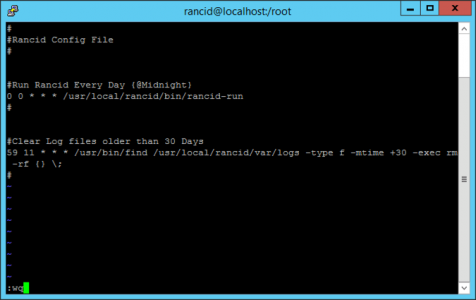 Crontab Rancid Backups