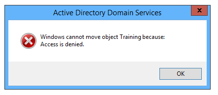 Domain Unable to Move OU