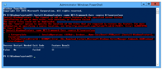 Net error Server2012