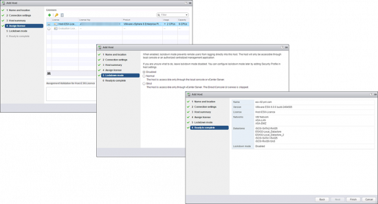 VMWARE ESX Add a Host to vCenter