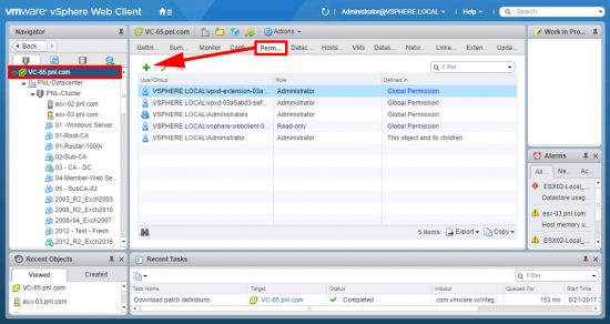 Add Domain Authentication to vSphere