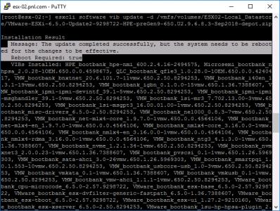 VMware Offline Bundle Sucessful