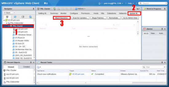vSphere Attach Baseline to Cluster