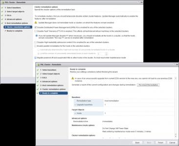 vSphere Upgrade ESX Host options