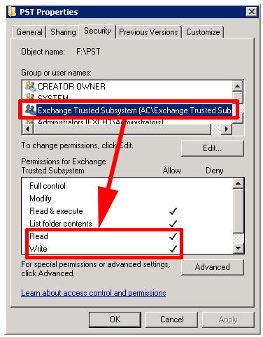 Exchange Exporting Mailboxes to PST Files | PeteNetLive