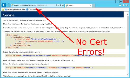 MRSProxy Certificate Errors