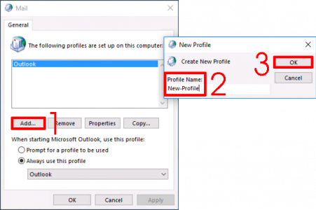 Outlook Create New Mail Profile