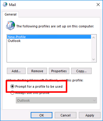 how to change the profile name in microsoft exchange