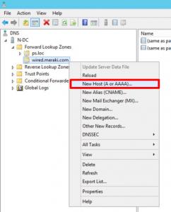 DNS A Record Create