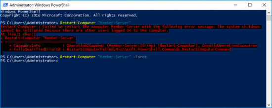PowerShell Restart Users Logged On