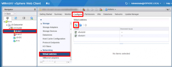 vCenter Add vSwitch iSCSI