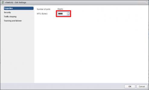 VMware vSwitch MTU