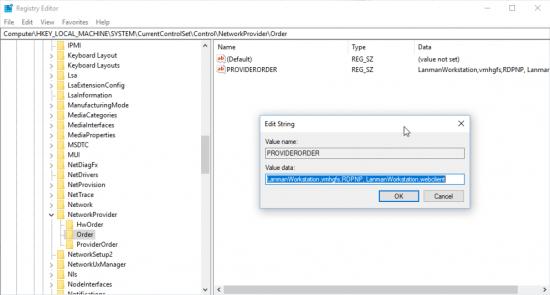VMware Fusion Network Provider Order