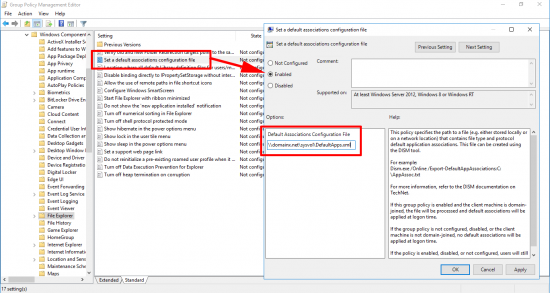 Set File association via Group Policy