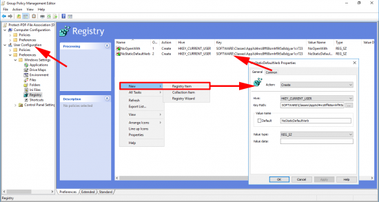 Set User File association via Group Policy