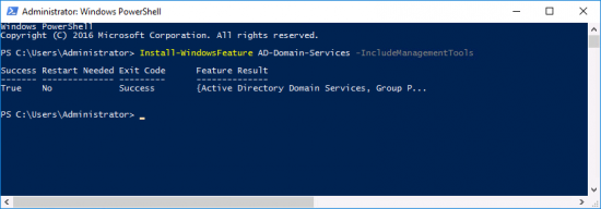PowerShell Add AD Domain Services