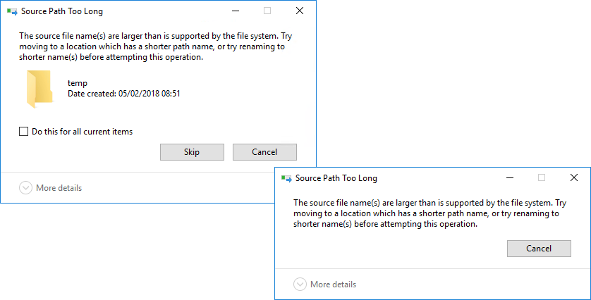 Deleting Folders With 'Long Filenames' (Source Path Too Long