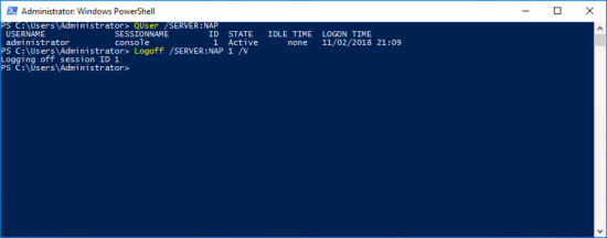 PowerShell Remote Log off a user