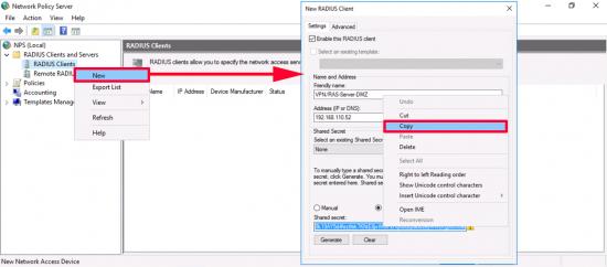 NPS Create RADIUS Client