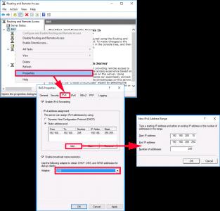 RAS DHCP Settings