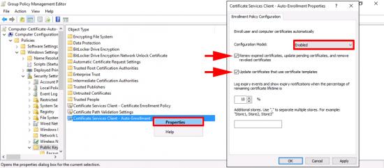 Computer Certificate Auto Enroll GPO