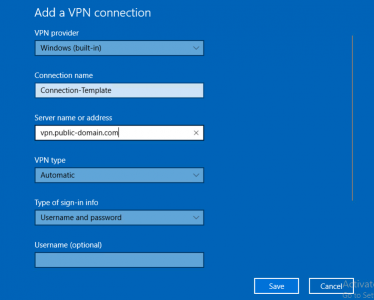 Windows Add a VPN Connection