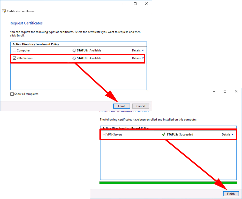 Windows always on vpn part 1 domain and pki petenetlive ras certificate enrollment yelopaper Image collections