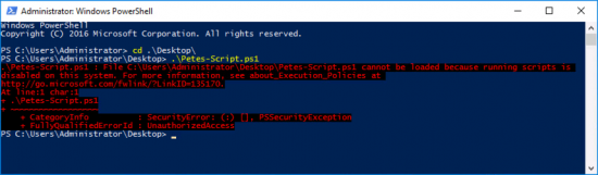 Powershell cannot be loaded because Scripts are restricted