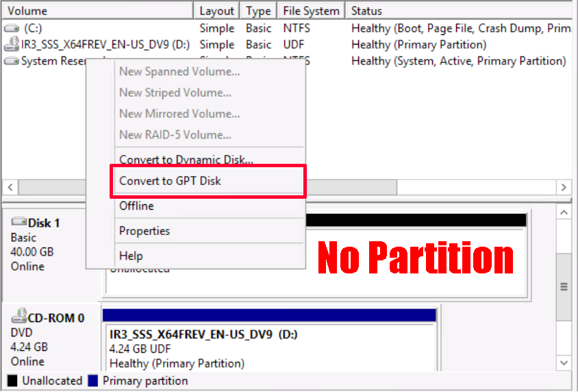 Convert MBR Partitioned Drives to GPT | PeteNetLive