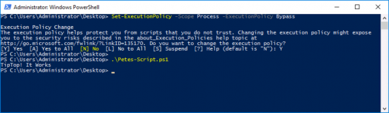 Powershell Bypass Execution Policy