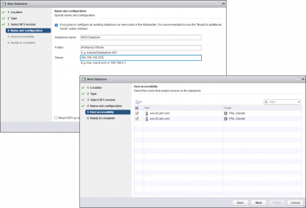 Connect vSphere ESX to NAS
