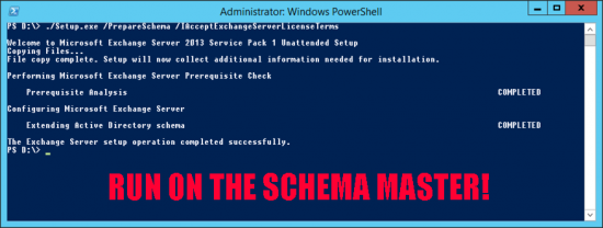 Exchange Prepare Schema Manually