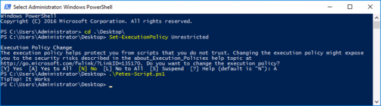 Powershell Execution Policy Unrestricted