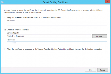 Import RD Web Certificate