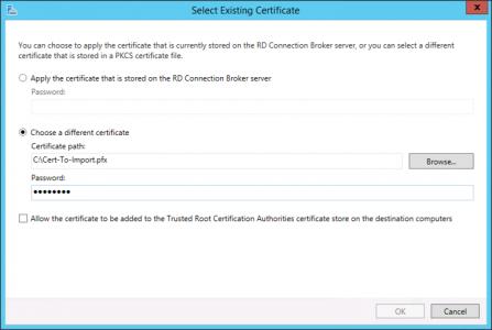 Import RD Web Certificate
