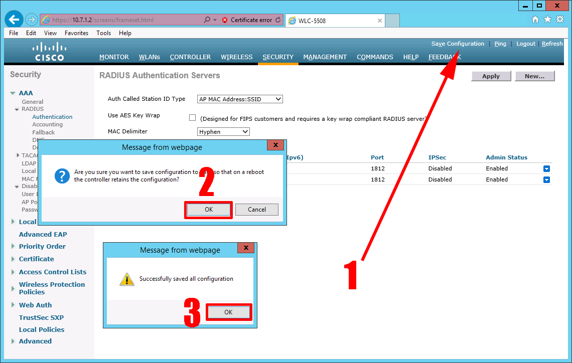 Cisco WLC: EAP-TLS Secured Wireless with Certificate
