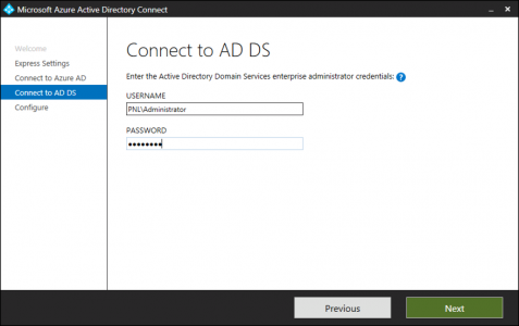 Azure AD Connect Local Credentials