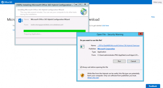 Configure Office 365 Exchange Hybrid