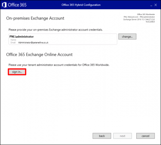 Hybrid Exchange Connecto Office 365