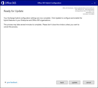 Office 365 Hybrid Configuration