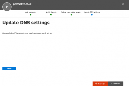 Office 365 Exchange DNS Setup