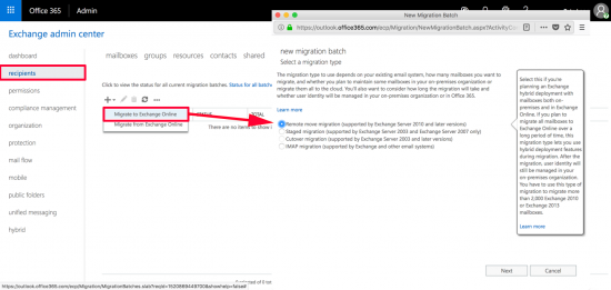 Migrate Mailbox to Office 365