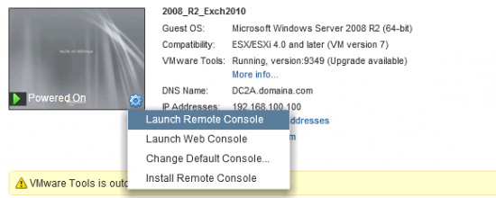 VMware Web Console Only