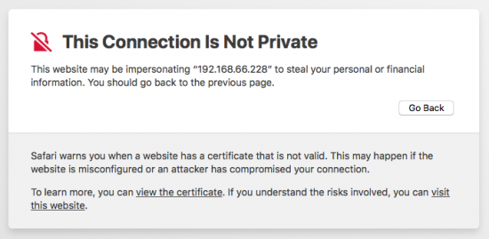 Safari: This connection Is Not Private Loop | PeteNetLive