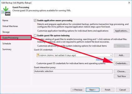 Veeam Backup Credentials