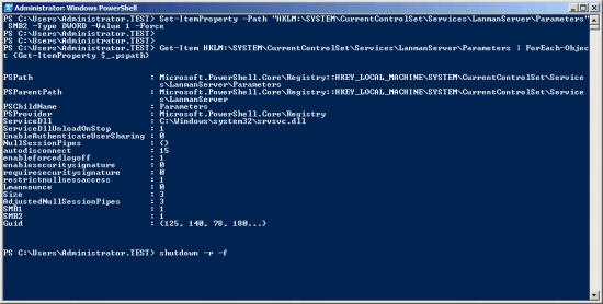 Windows Server Enable SMB1 and SMB2