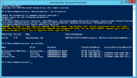 Connect PowerShell to Office 365